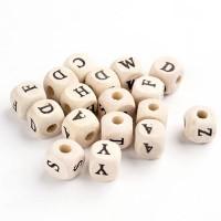 Бусины с буквами деревянные