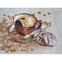 Бодрящий кофе, 30х40