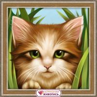 Зеленоглазый котенок, 15х15
