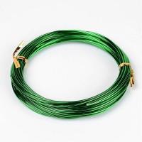 Алюминиевая проволока 1.5 мм зелёная