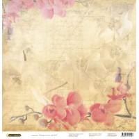 """Бумага для скрапбукинга """"Акварельные цветы"""""""